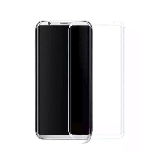 Clearance Accessories - Full Edge Colored Tempered Glass Screen Protector, Clear for Galaxy S8 Plus