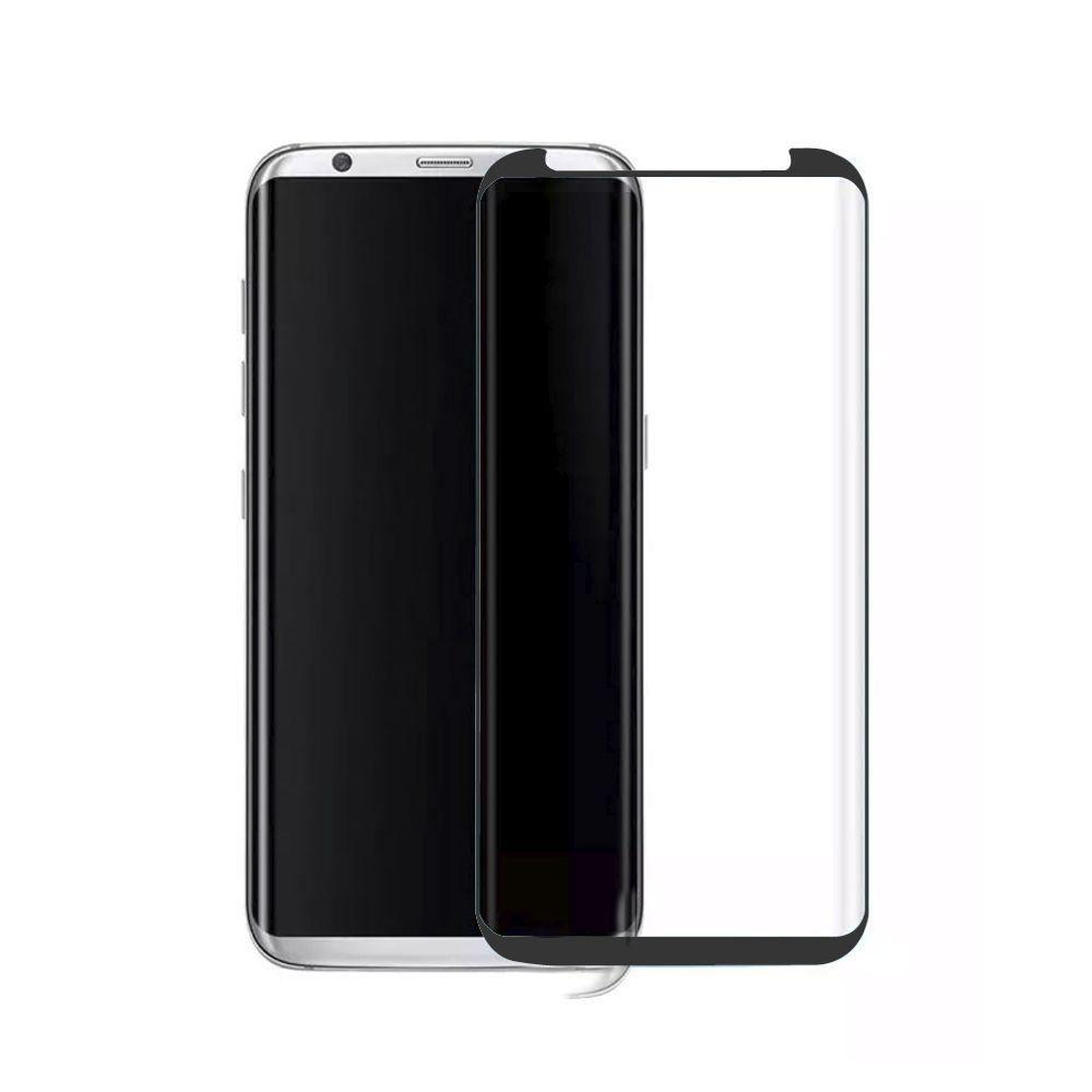 - Full Edge Colored Tempered Glass Screen Protector, Black for Galaxy S8 Plus