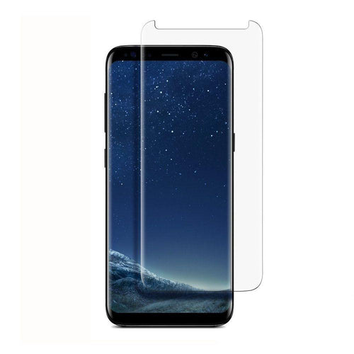 Clearance Accessories - Full Edge Colored Tempered Glass Screen Protector, Clear for Samsung Galaxy S8