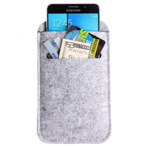 Felt Wool SmartPhone Sleeve,Gray
