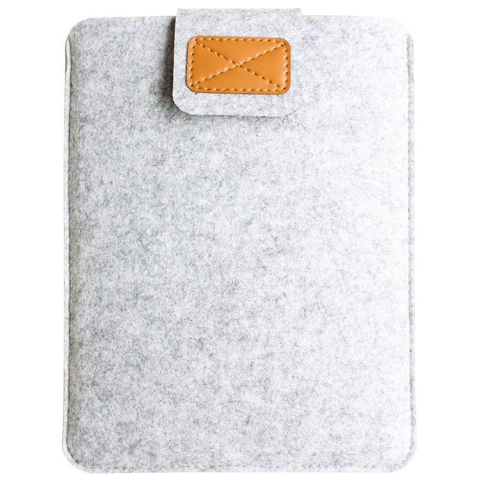 - Felt Wool Tablet Sleeve, White