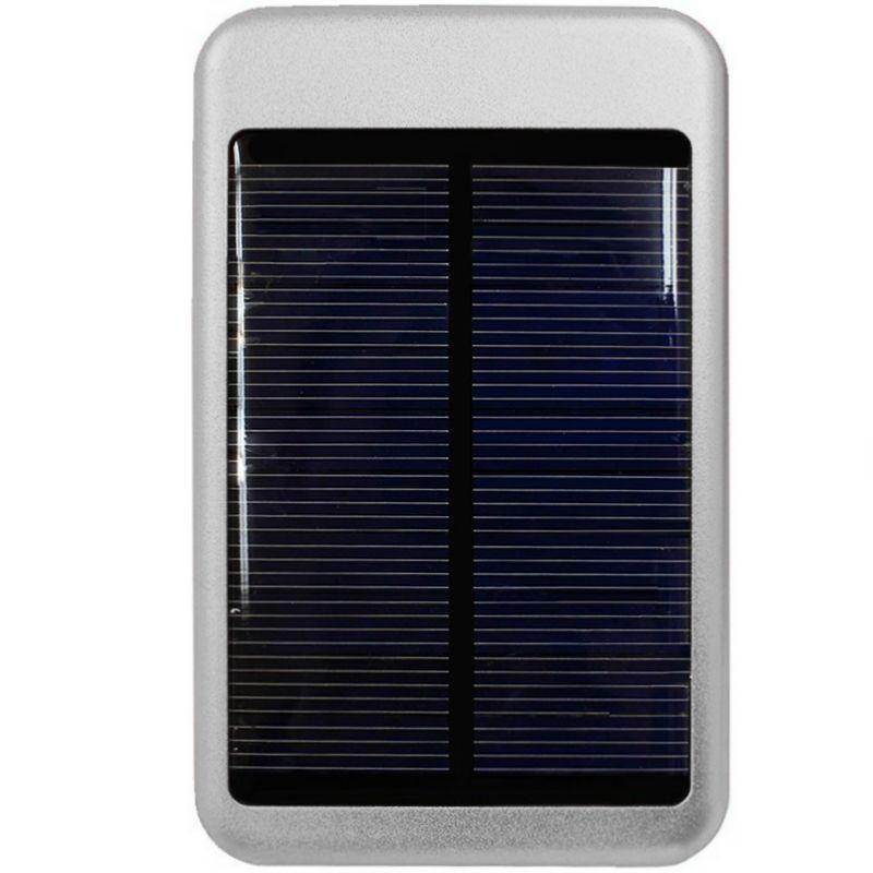 Overture Z995 - Solar Powered 6000 T-Pocket Portable Phone Battery (5000 mAh), Silver