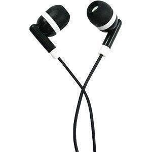 Alcatel Onetouch Fierce Xl - Sound Vector 3.5mm Stereo Headset, Black w/White Accents