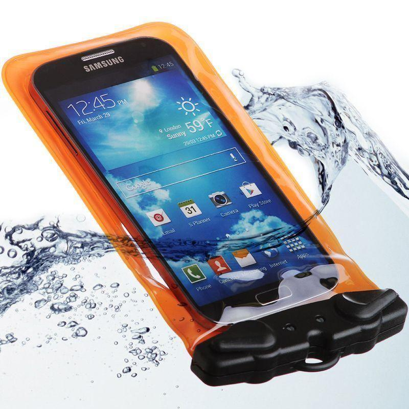 - Splash Guardz Waterproof Case with Lanyard, Orange