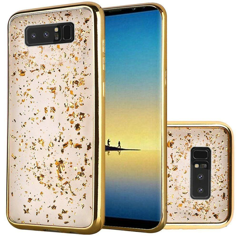 - Slim Fashion Sparkling Flake TPU Case, Gold for Samsung Galaxy Note 8