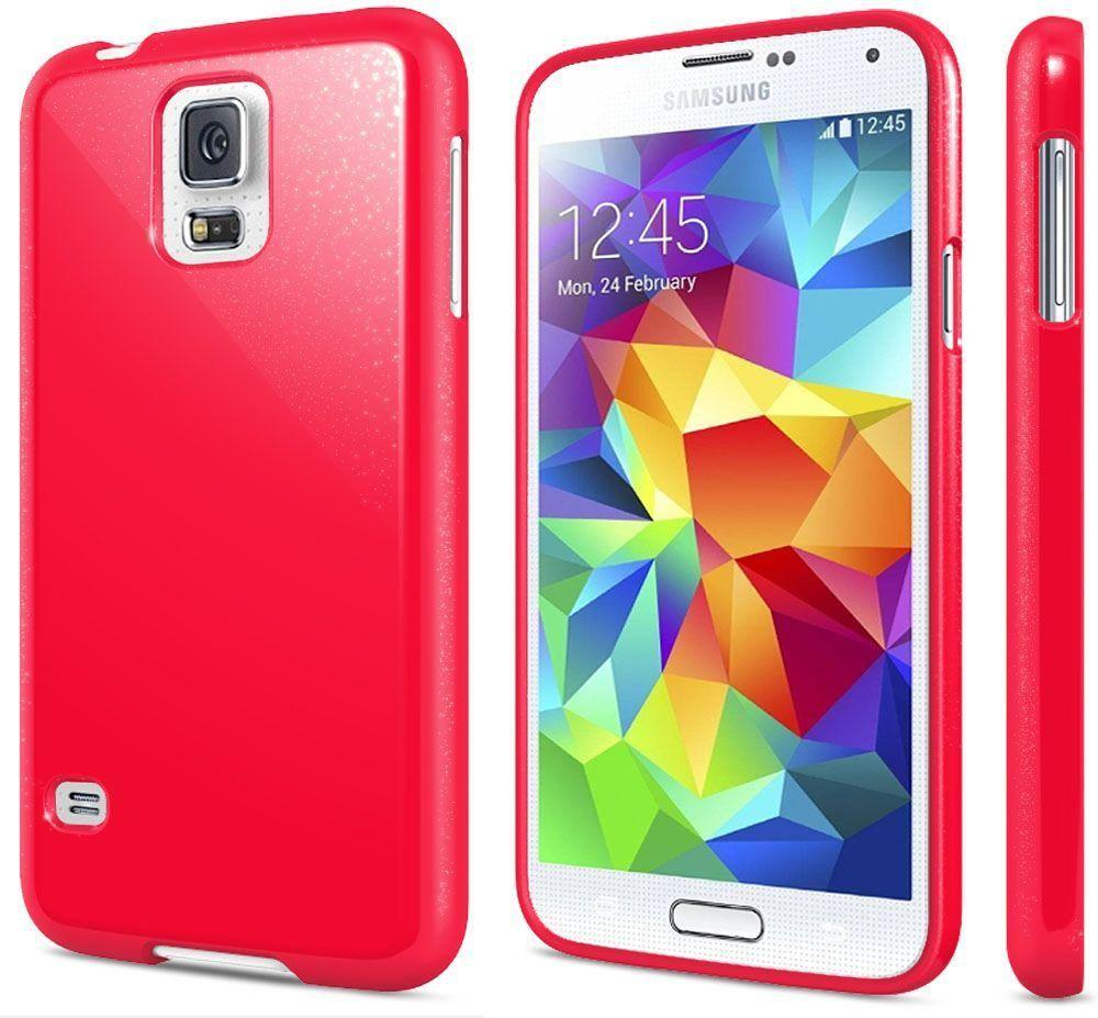 - Gem Shield TPU Case, Hot Pink for Samsung Galaxy S5