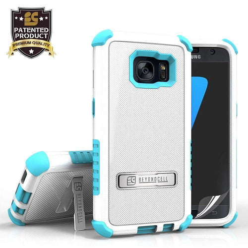 Phone Cases & Covers - Tri Shield Rugged Case, White/Blue for Samsung Galaxy S7