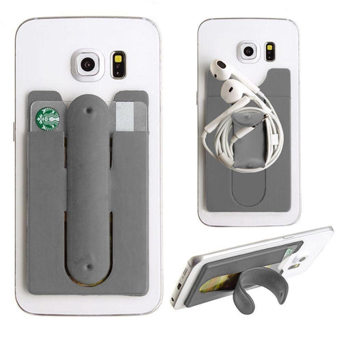 Lg 4050 - 2in1 Phone Stand and Credit Card Holder, Gray