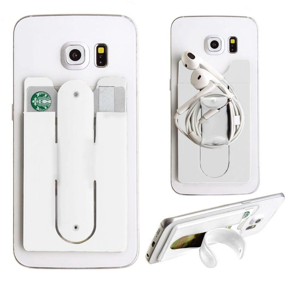 - 2in1 Phone Stand and Credit Card Holder, White