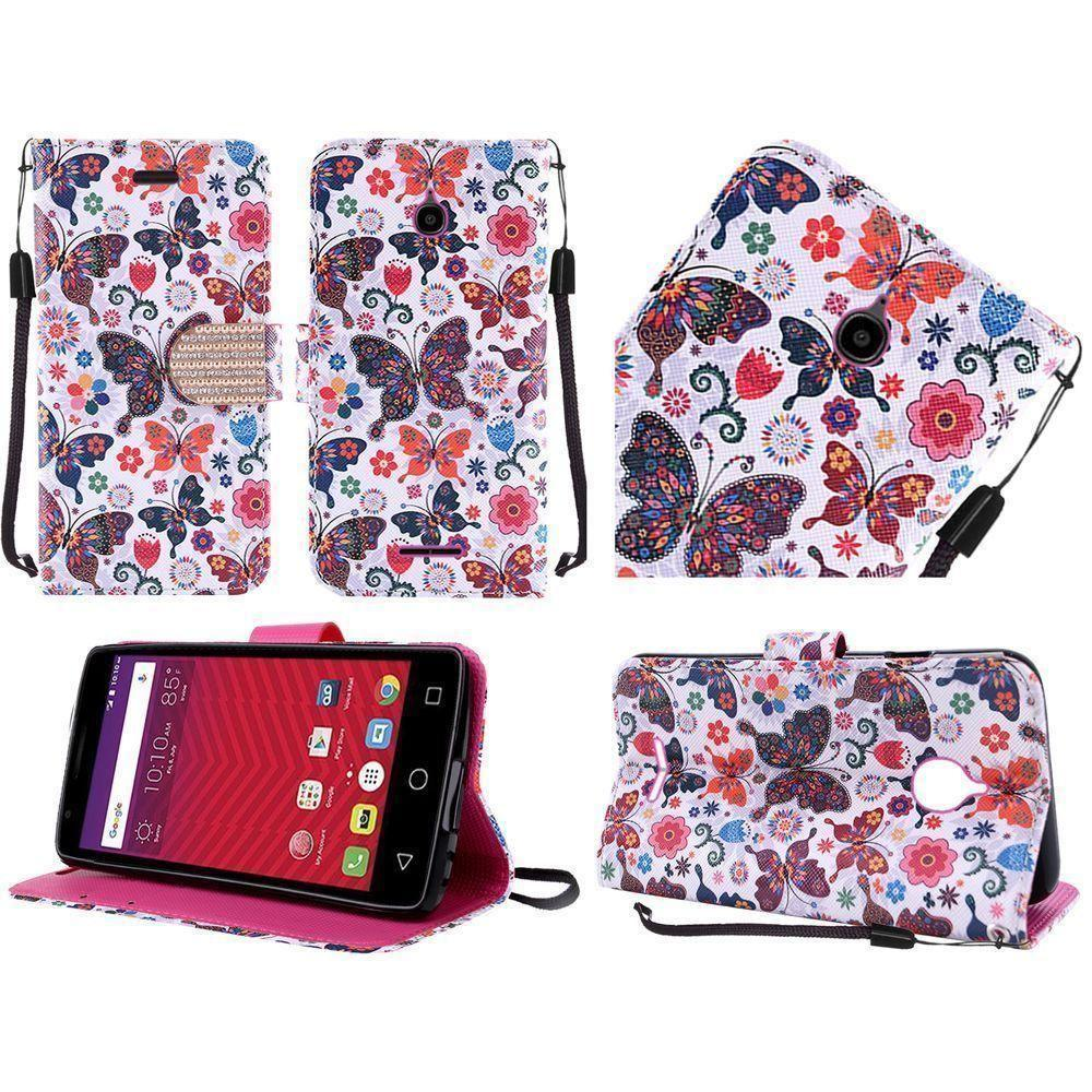 - Rainbow Butterflies Shimmering Folding Phone Wallet, Multi-Color/Black