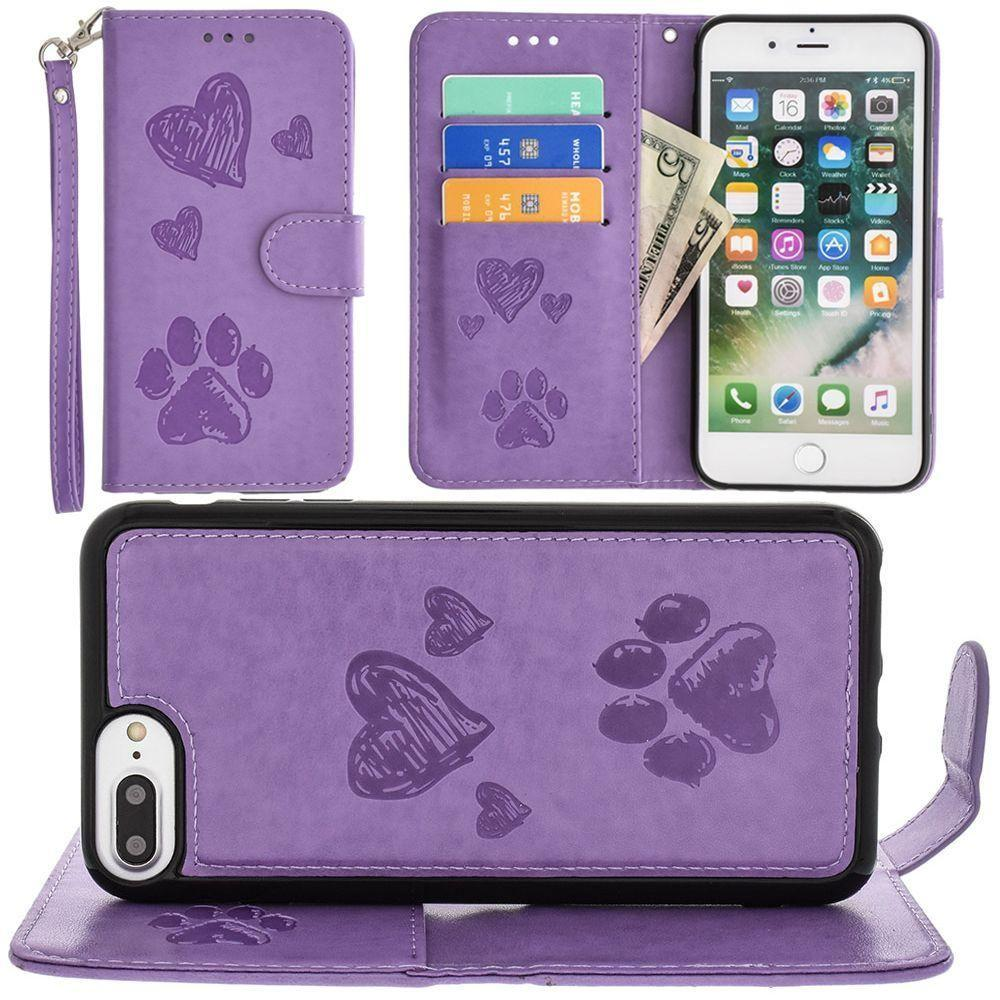 - Puppy Love Wallet with Matching Detachable Magnetic Phone Case and Wristlet, Lavender for Apple iPhone 6 Plus/iPhone 6s Plus/iPhone 7 Plus/iPhone 8 Plus