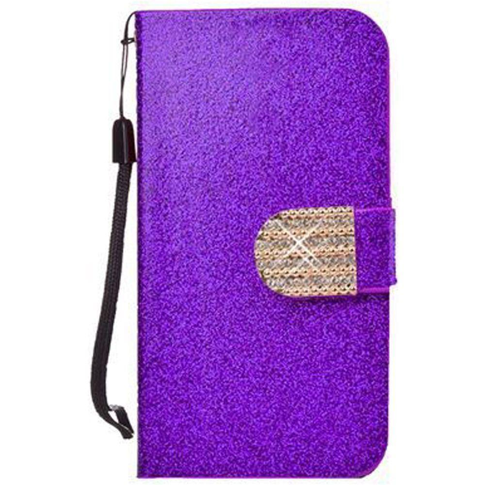 - Shimmering Folding Phone Wallet, Purple