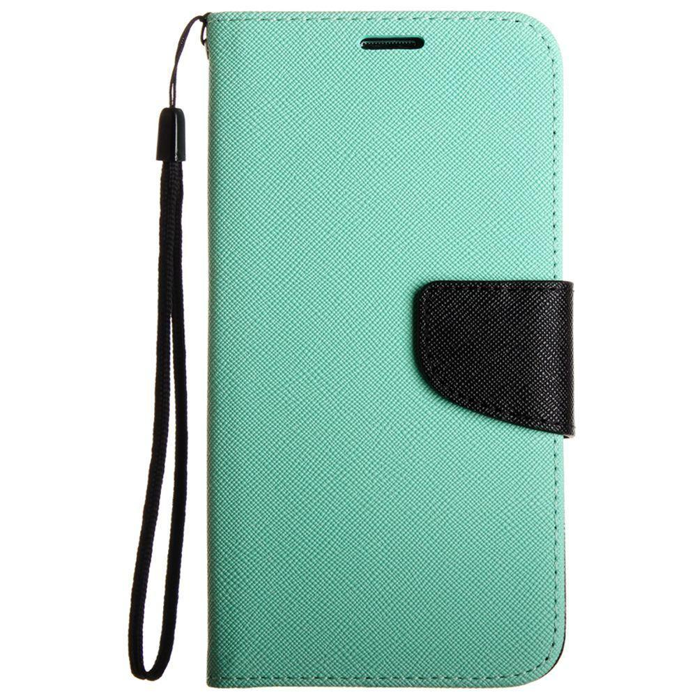 - Premium 2 Tone Leather Folding Wallet Case, Green/Black for Samsung Galaxy S6 Edge Plus