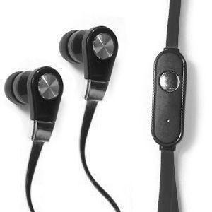 Motorola Admiral - Xtreme Bass High Def Tangle-Free 3.5mm Stereo Headset w/Microphone, Black/Black