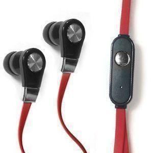 Zte Avid 4g - Xtreme Bass High Def Tangle-Free 3.5mm Stereo Headset w/Microphone, Red/Black