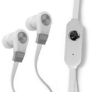 Headsets Audio Accessories - Xtreme Bass High Def Tangle-Free 3.5mm Stereo Headset w/Microphone, White/White
