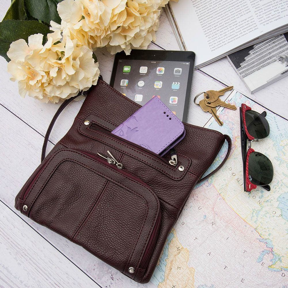 Double Zipper Crossbody bag that is perfect to take with you on vacation!| CellularOutfitter