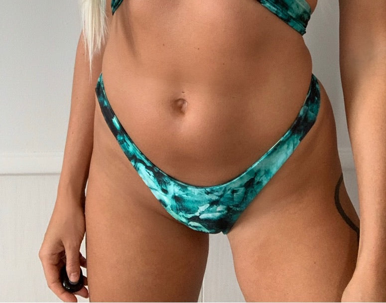 Jade Tie Dye Minimal Cheeky Bottom