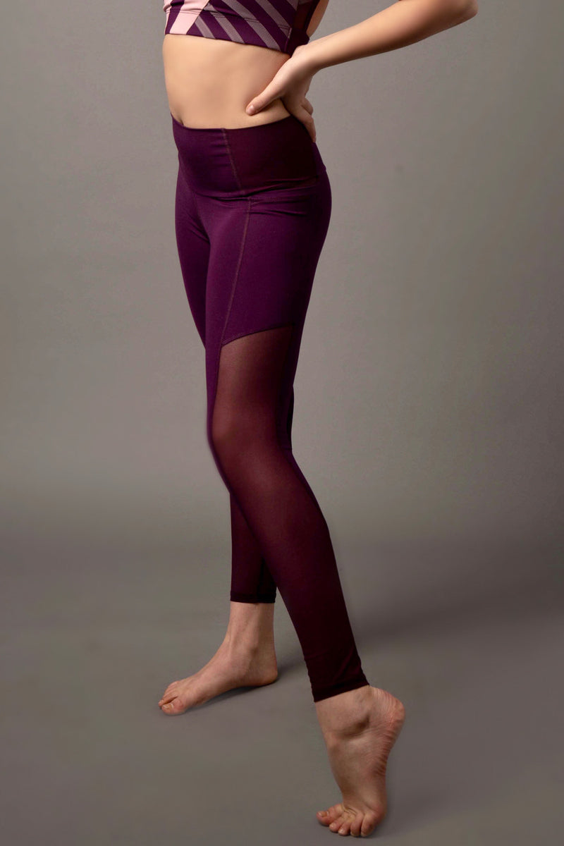 Matrix Pocket Legging - Plum