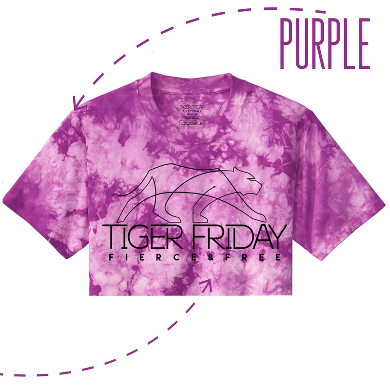 Tie Dye For Cropped Tee - Purple