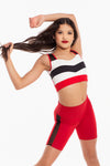 Wings Crop Top - Cherry