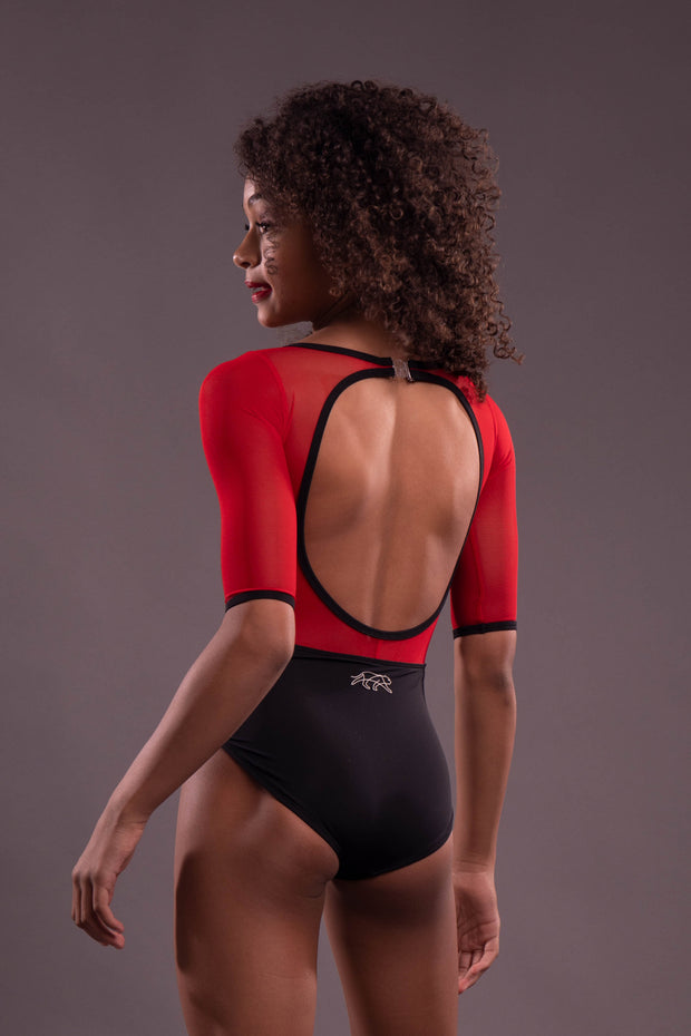 Cathedral Leotard 2.0 - Cherry