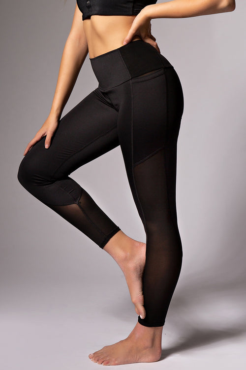 Matrix Pocket Leggings - Black