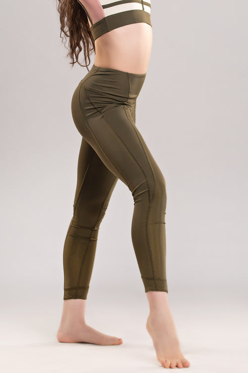 Facet Legging - Olive