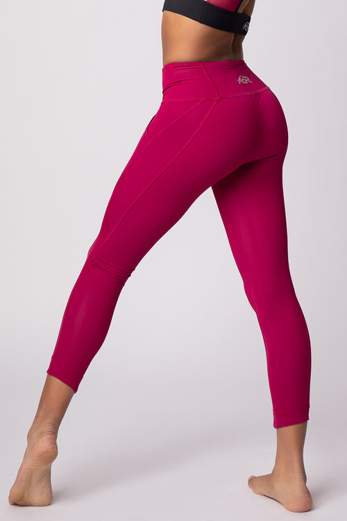 Outlet Facet Legging - Raspberry