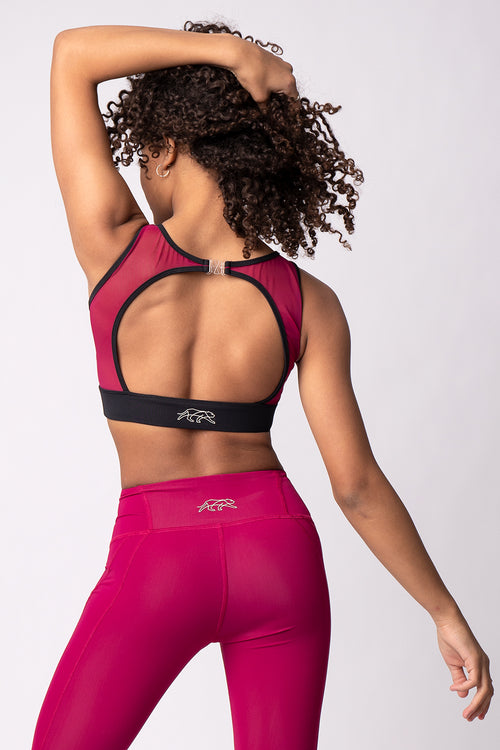 Cathedral Crop Top - Raspberry