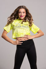 Tie Dye For Cropped Tee - Lime