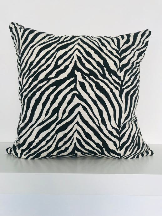 Zebra Print Cushion Cover