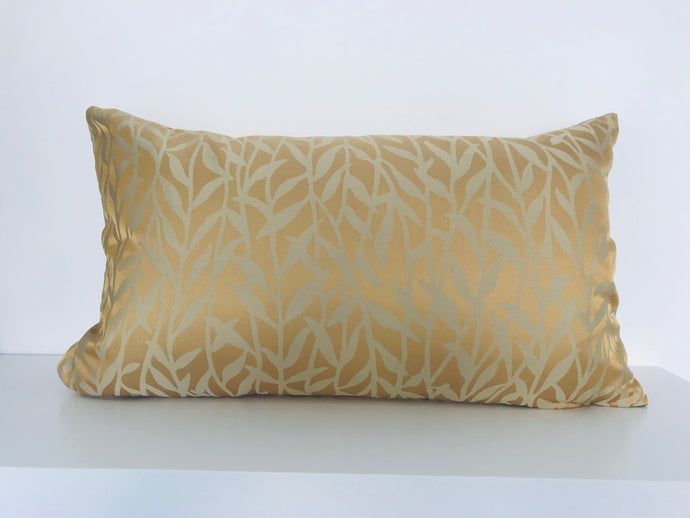Gold Floral Cushion Cover
