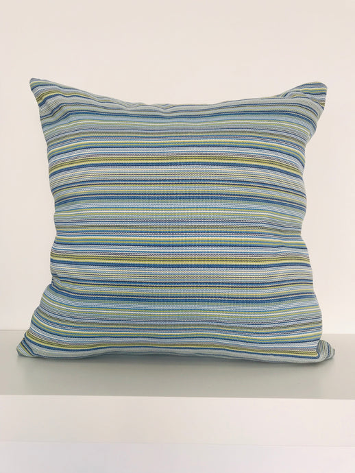 Blue Textured Cushion Cover