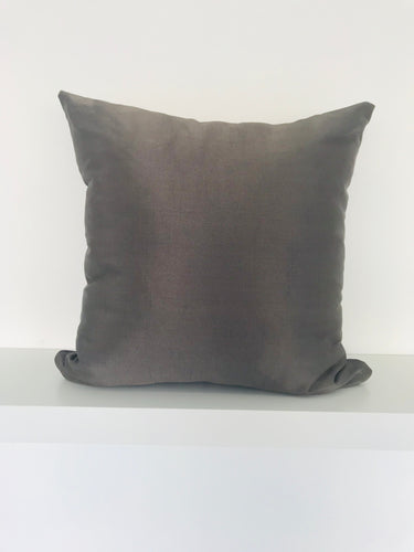 Metallic Dark Bronze Cushion Cover
