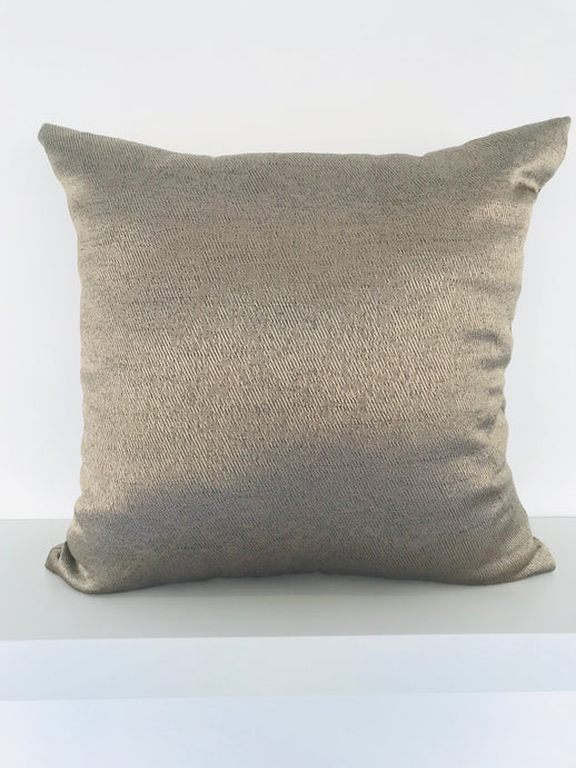 Metallic Light Bronze Cushion Cover