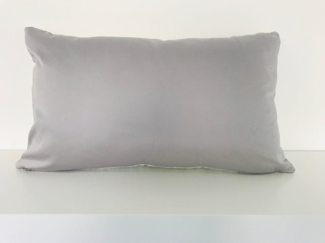 White & Grey Floral Cushion Cover