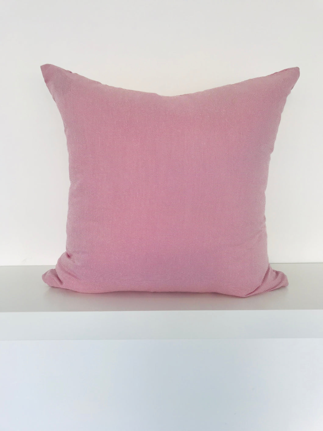Red & White Stripe Cushion Cover