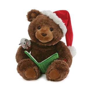 Animated Holiday Storytime Bear, 18 in