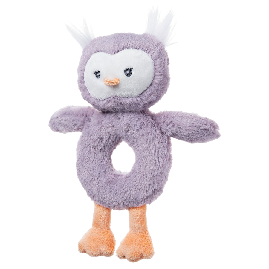 Baby Toothpick Owl Rattle, 7.5""