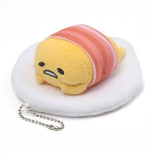 Gudetama Bacon Keychain, 4.5 in