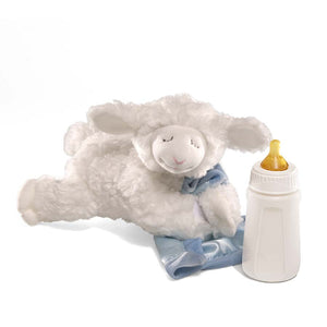 Lena Lamb Sound Toy, Blue, 9 in