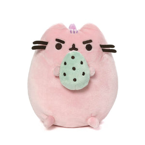 Pusheenosaurus Standing with Egg, Cotton Candy, 6 in