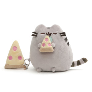 Pusheen with Pizza and Bonus Clip, 6 in