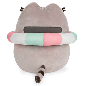 Pusheen with Inner Tube, 9.5 in