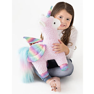 Rainbow Sparkles Llamacorn w/ Wings, 15.5""
