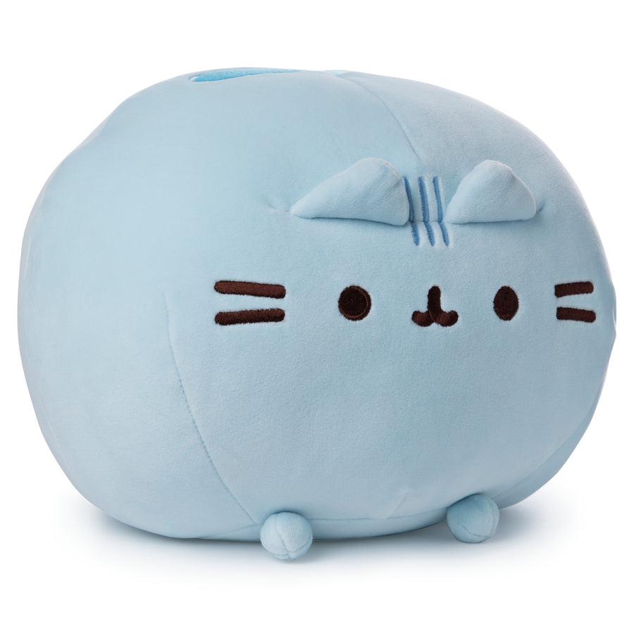 Blue Round Pusheen Squisheen, 11 in