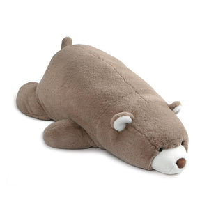 Snuffles Laying Down, Taupe, 27 in