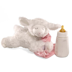 Lena Lamb Sound Toy, Pink, 9 in