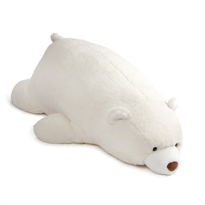 Snuffles Laying Down, White, 27 in